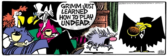 Comic Strip Mike Peters  Mother Goose and Grimm 2007-02-12 undead