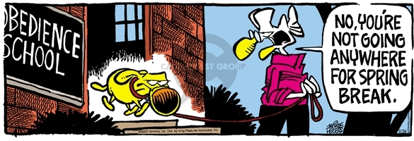 Comic Strip Mike Peters  Mother Goose and Grimm 2007-02-26 vacation
