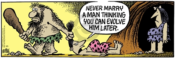 Comic Strip Mike Peters  Mother Goose and Grimm 2007-03-01 evolution