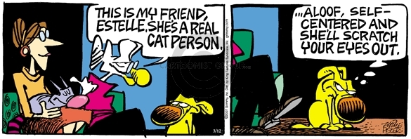 Comic Strip Mike Peters  Mother Goose and Grimm 2007-03-12 dog and cat