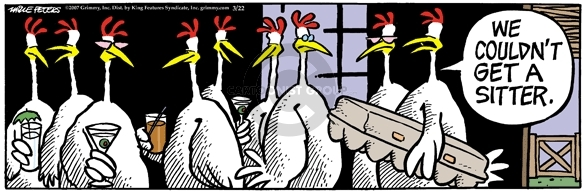 Comic Strip Mike Peters  Mother Goose and Grimm 2007-03-22 transport