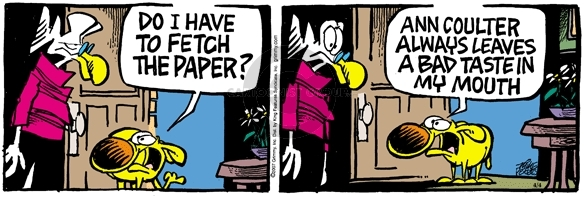 Comic Strip Mike Peters  Mother Goose and Grimm 2007-04-04 column