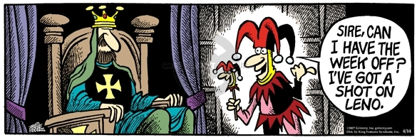 Comic Strip Mike Peters  Mother Goose and Grimm 2007-04-14 shot