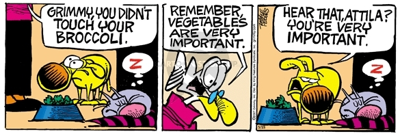 Comic Strip Mike Peters  Mother Goose and Grimm 2007-05-18 broccoli