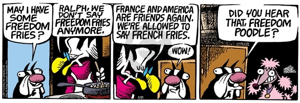 Comic Strip Mike Peters  Mother Goose and Grimm 2007-05-25 international relations