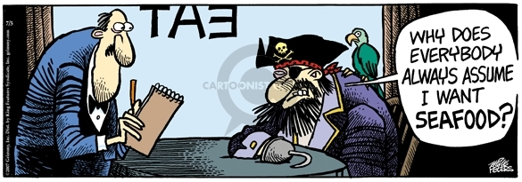 Comic Strip Mike Peters  Mother Goose and Grimm 2007-07-05 pirate