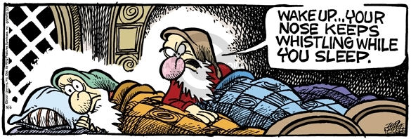 Cartoonist Mike Peters  Mother Goose and Grimm 2007-08-06 nose