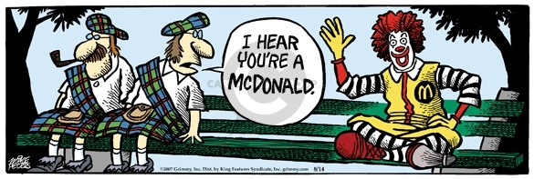 Comic Strip Mike Peters  Mother Goose and Grimm 2007-08-14 clown