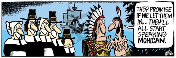 Cartoonist Mike Peters  Mother Goose and Grimm 2007-08-30 immigration