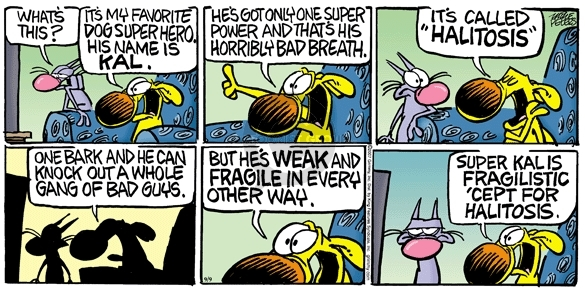 Cartoonist Mike Peters  Mother Goose and Grimm 2007-09-09 breath