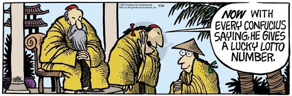 Comic Strip Mike Peters  Mother Goose and Grimm 2007-09-20 number