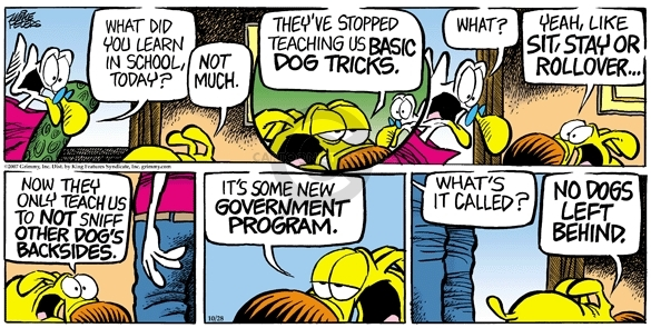 Comic Strip Mike Peters  Mother Goose and Grimm 2007-10-28 government program