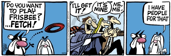 Comic Strip Mike Peters  Mother Goose and Grimm 2007-10-30 frisbee dog
