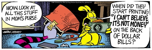 Comic Strip Mike Peters  Mother Goose and Grimm 2007-11-03 purse