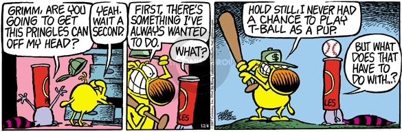 Comic Strip Mike Peters  Mother Goose and Grimm 2007-12-04 baseball