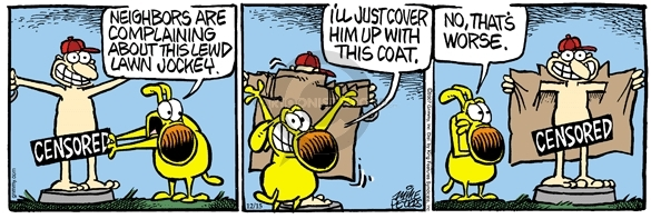 Comic Strip Mike Peters  Mother Goose and Grimm 2007-12-15 obscenity