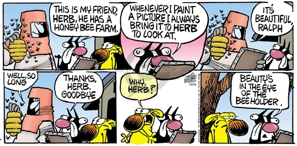 Comic Strip Mike Peters  Mother Goose and Grimm 2007-12-16 honey