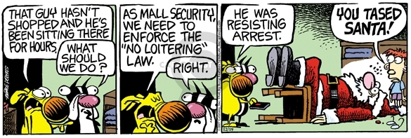 Comic Strip Mike Peters  Mother Goose and Grimm 2007-12-19 laws