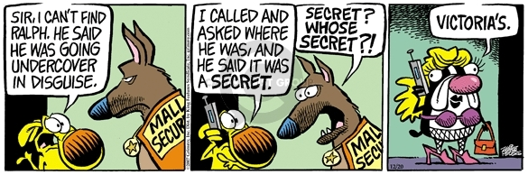 Comic Strip Mike Peters  Mother Goose and Grimm 2007-12-20 disguise