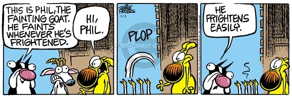 Comic Strip Mike Peters  Mother Goose and Grimm 2008-01-03 scary