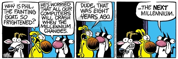 Comic Strip Mike Peters  Mother Goose and Grimm 2008-01-04 dude