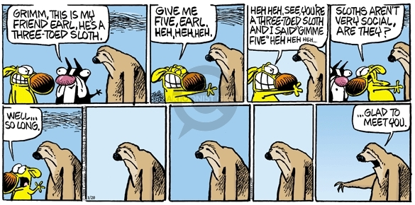 Comic Strip Mike Peters  Mother Goose and Grimm 2008-01-20 slothful