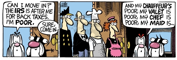 Comic Strip Mike Peters  Mother Goose and Grimm 2008-01-21 tax