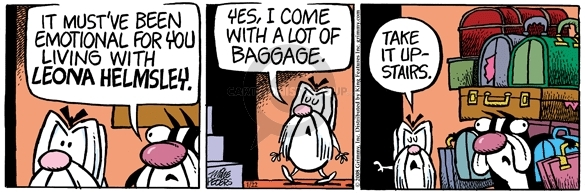 Comic Strip Mike Peters  Mother Goose and Grimm 2008-01-22 luggage