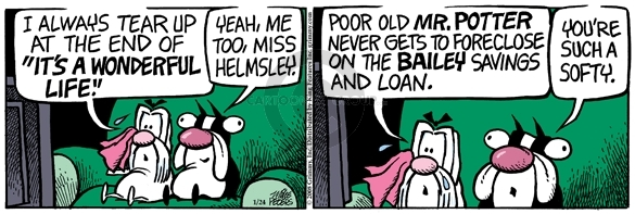 Comic Strip Mike Peters  Mother Goose and Grimm 2008-01-24 cry