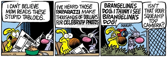 Cartoonist Mike Peters  Mother Goose and Grimm 2008-01-28 camera
