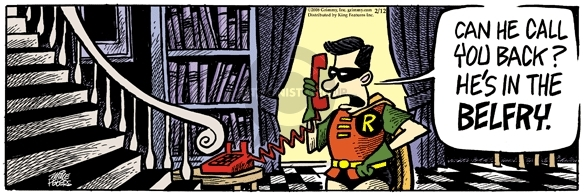 Comic Strip Mike Peters  Mother Goose and Grimm 2008-02-12 Batman Robin