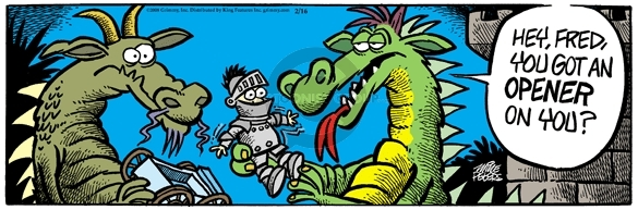 Comic Strip Mike Peters  Mother Goose and Grimm 2008-02-16 Fred