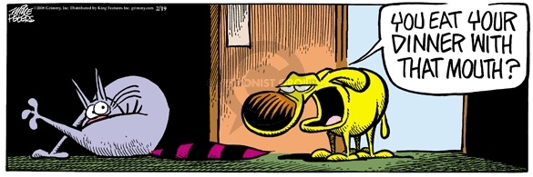 Comic Strip Mike Peters  Mother Goose and Grimm 2008-02-19 cat