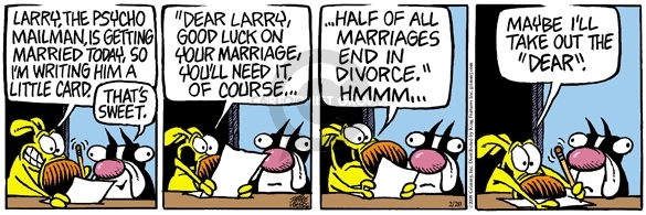 Comic Strip Mike Peters  Mother Goose and Grimm 2008-02-20 divorce