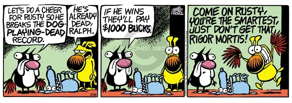 Cartoonist Mike Peters  Mother Goose and Grimm 2008-02-26 deception