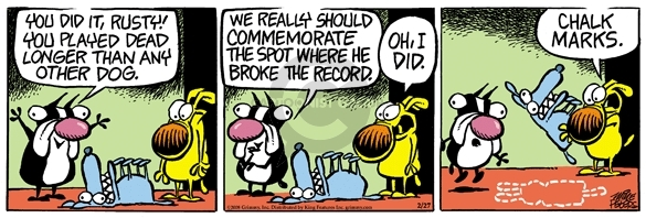 Comic Strip Mike Peters  Mother Goose and Grimm 2008-02-27 crime scene
