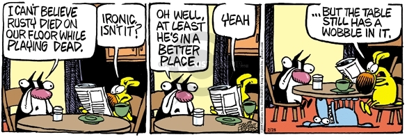 Comic Strip Mike Peters  Mother Goose and Grimm 2008-02-28 least