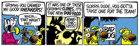 Comic Strip Mike Peters  Mother Goose and Grimm 2008-03-12 dude