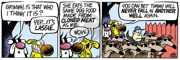 Cartoonist Mike Peters  Mother Goose and Grimm 2008-03-14 rescue dog