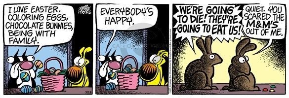 Comic Strip Mike Peters  Mother Goose and Grimm 2008-03-18 easter bunny