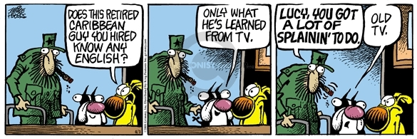 Cartoonist Mike Peters  Mother Goose and Grimm 2008-04-01 retire