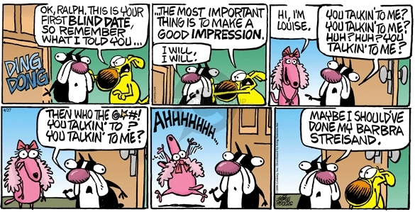 Comic Strip Mike Peters  Mother Goose and Grimm 2008-04-27 dong