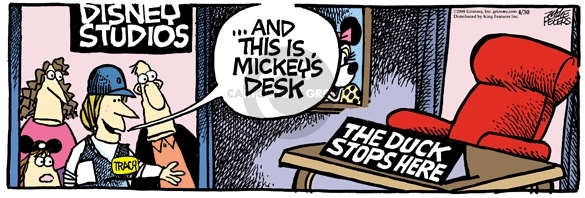 Comic Strip Mike Peters  Mother Goose and Grimm 2008-04-30 desk