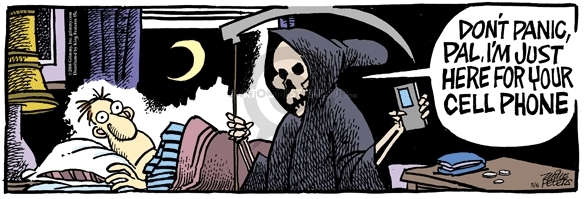 Cartoonist Mike Peters  Mother Goose and Grimm 2008-05-06 grim reaper