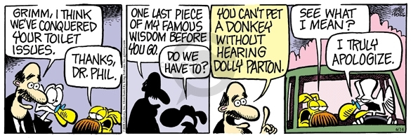 Comic Strip Mike Peters  Mother Goose and Grimm 2008-06-14 issue