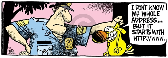 Comic Strip Mike Peters  Mother Goose and Grimm 2008-07-07 lost dog