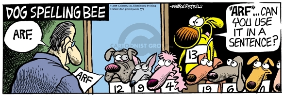Comic Strip Mike Peters  Mother Goose and Grimm 2008-07-09 arf