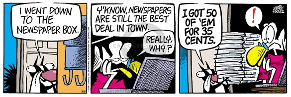 Comic Strip Mike Peters  Mother Goose and Grimm 2008-08-08 still