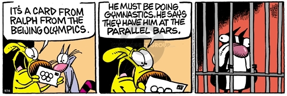 Comic Strip Mike Peters  Mother Goose and Grimm 2008-08-16 jail