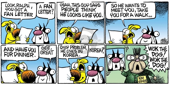 Cartoonist Mike Peters  Mother Goose and Grimm 2008-08-17 dog person